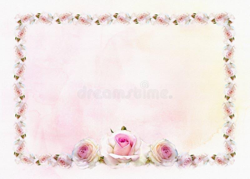Fond de frontière de roses illustration libre de droits