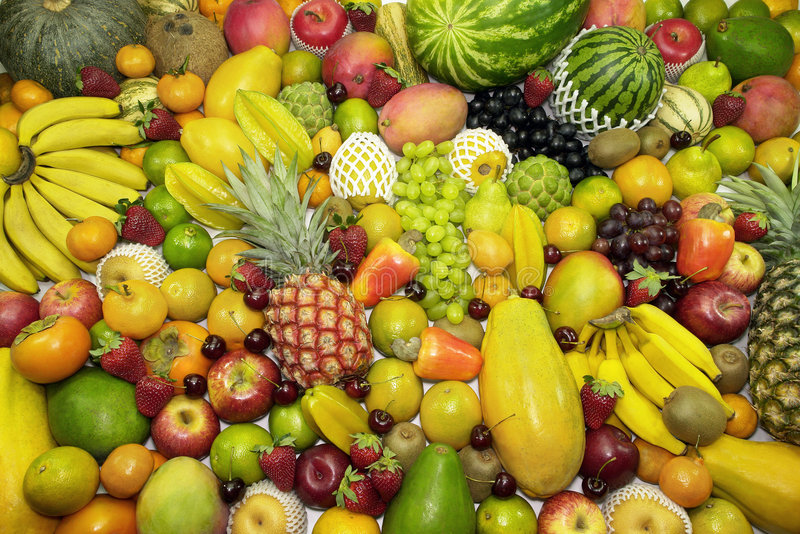 Fond de fruits images libres de droits