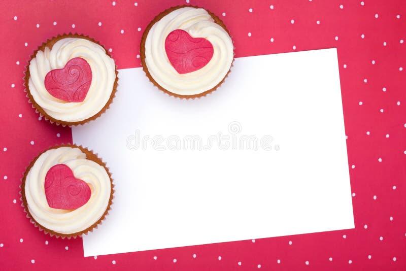 Fond de gâteau de Valentine images stock