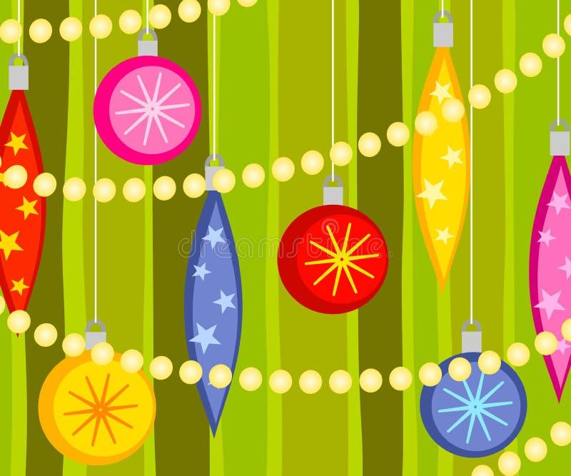 Fond de garniture d'arbre de Noël illustration libre de droits