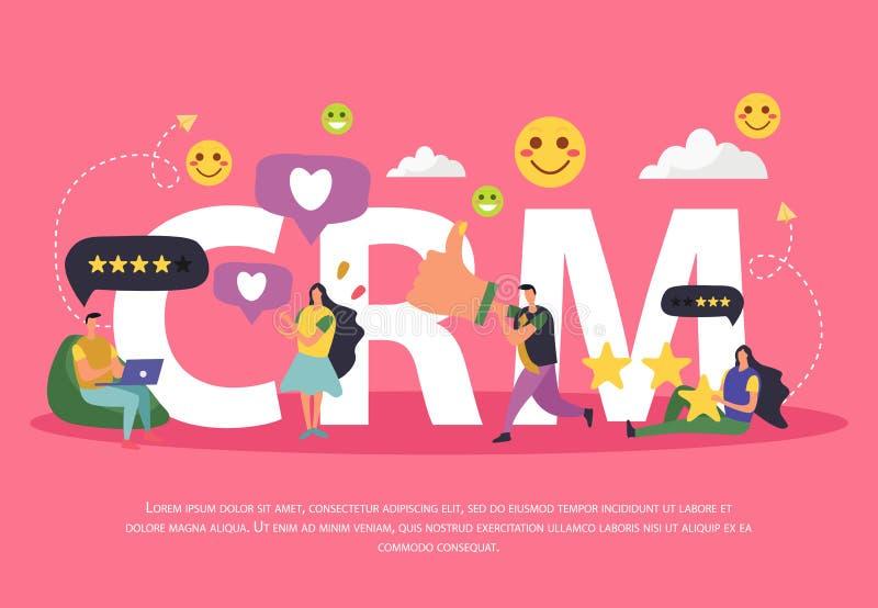 Fond de gestion de relations de client illustration stock