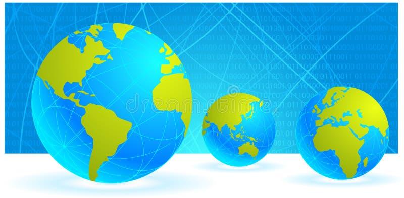 Fond de globe du monde de Digitals illustration de vecteur