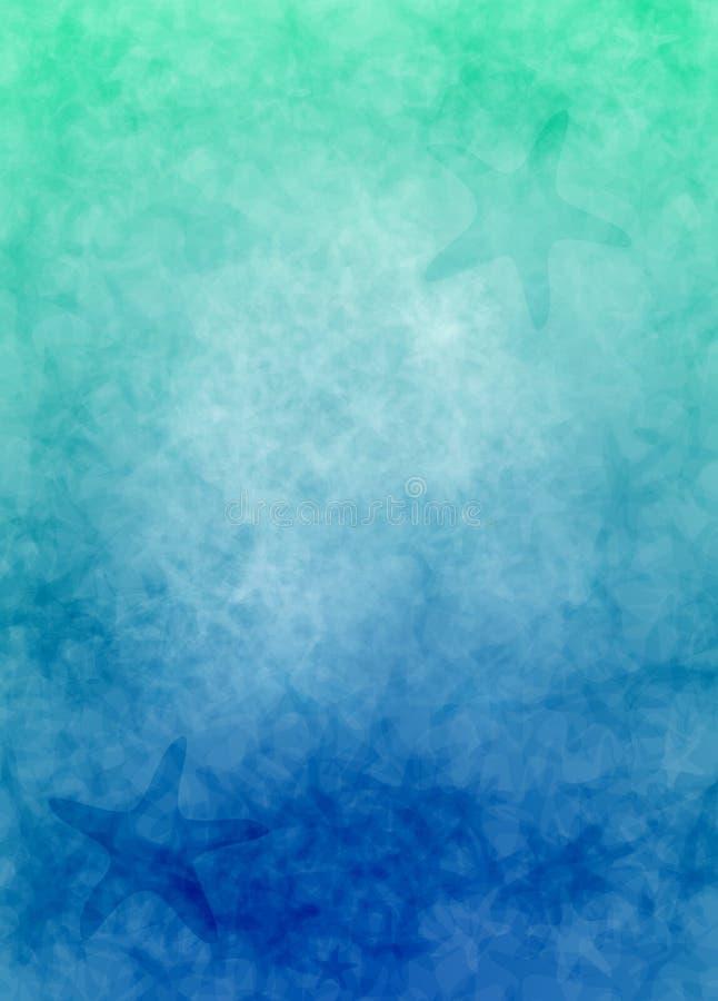 Fond de gradient d'étoiles de mer illustration stock
