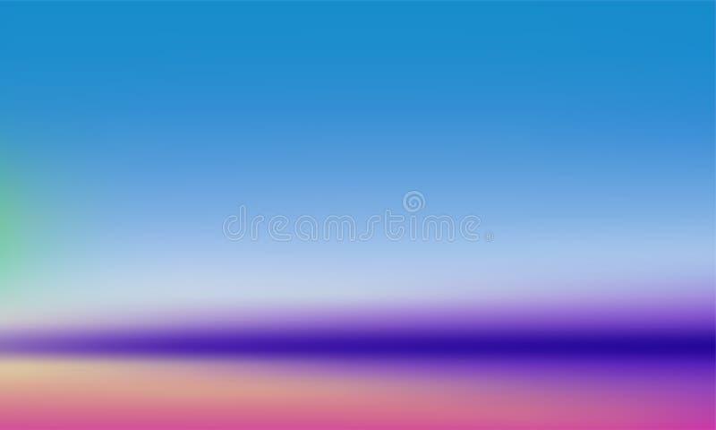 Fond de gradient d'abrégé sur gradation de couleur Fond pourpre bleu de tache floue molle colorée en pastel de vecteur illustration de vecteur