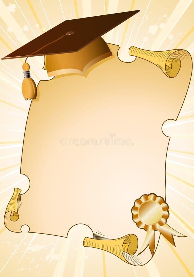 Fond de graduation illustration de vecteur