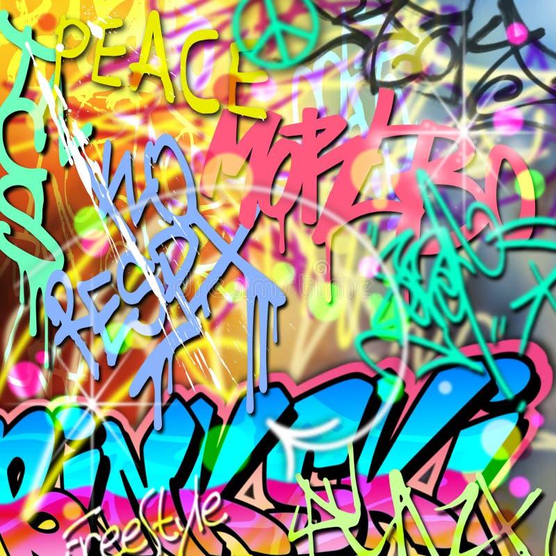 Fond de graffiti illustration de vecteur