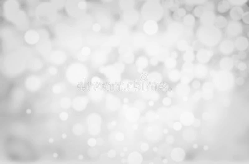 Fond de Grey Lights Festive. Noël abstrait a scintillé prison illustration stock