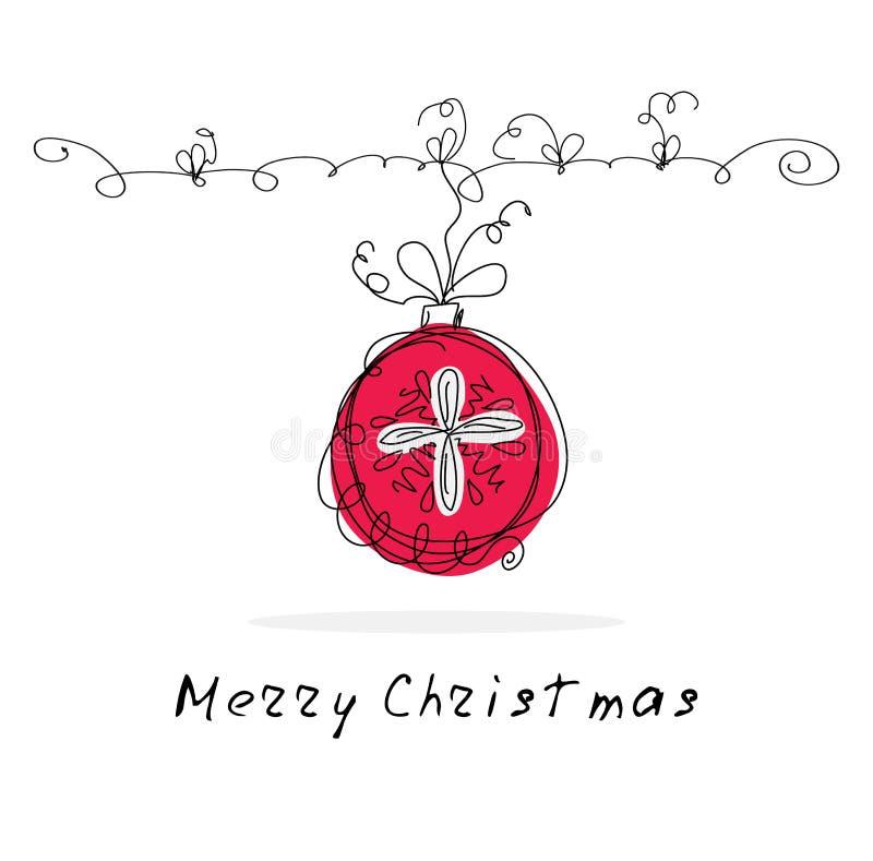 Fond de griffonnage de Noël de vecteur illustration libre de droits