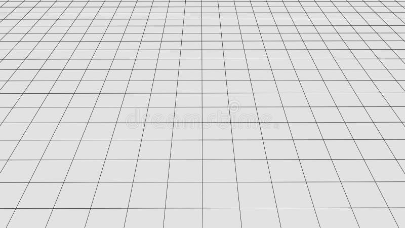 Fond de grille de perspective Paysage abstrait de wireframe de vecteur Fond abstrait de maille Illustration de vecteur illustration libre de droits