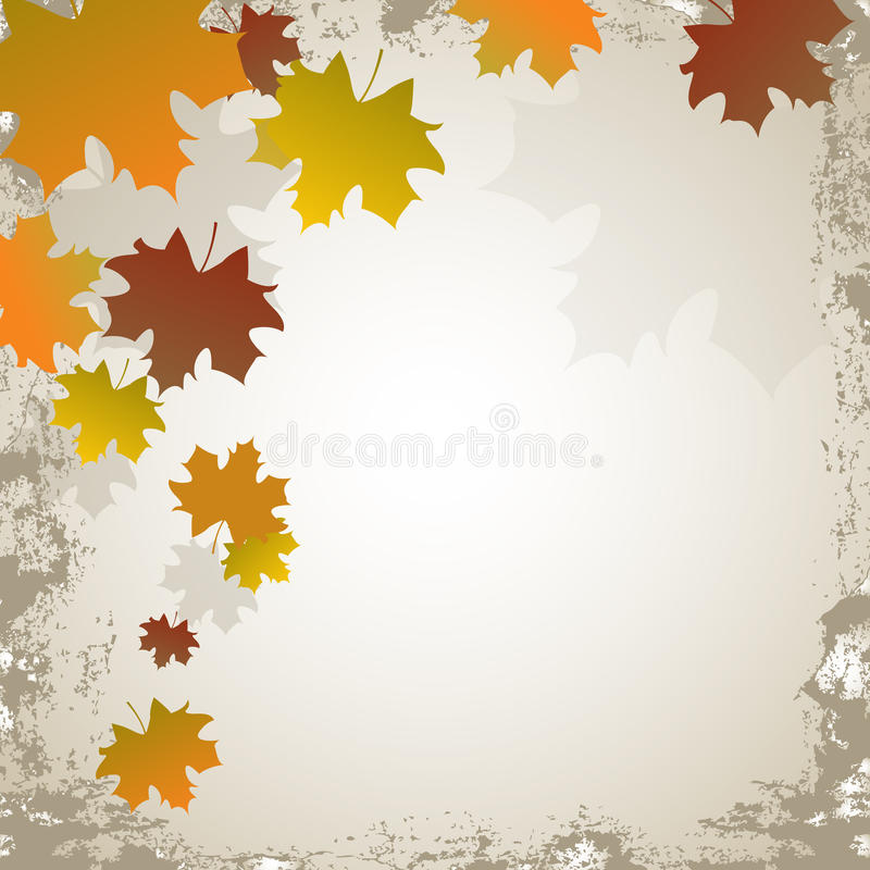 Fond de grunge d'automne illustration libre de droits