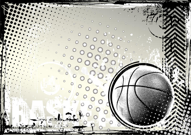Fond de grunge de basket-ball illustration stock