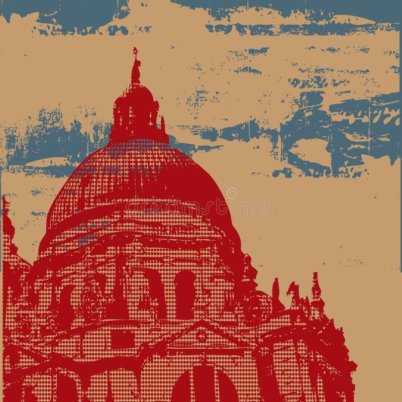 Fond de grunge de cathédrale illustration libre de droits