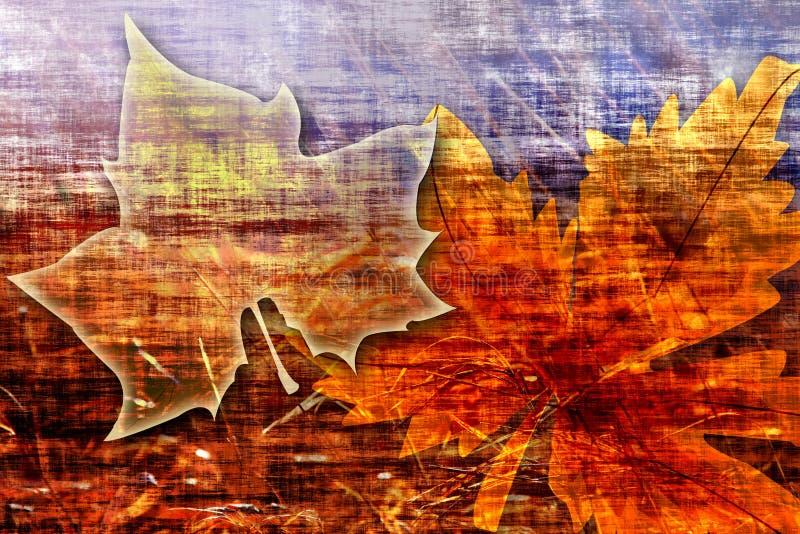 Fond de grunge de feuille d'érable illustration libre de droits
