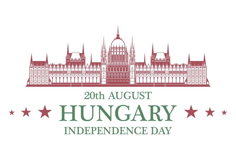Fond de grunge de l'indépendance Day hungary illustration stock