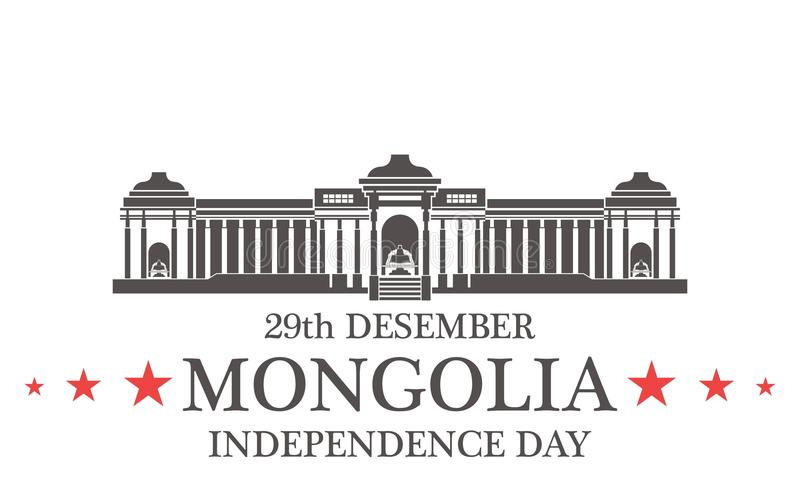 Fond de grunge de l'indépendance Day mongolia illustration libre de droits