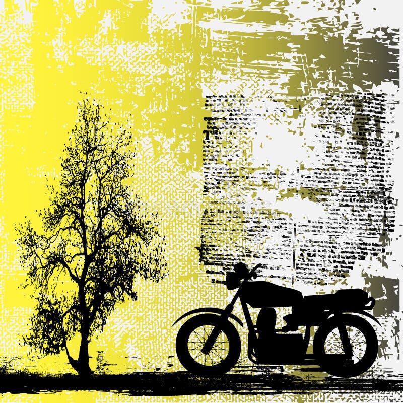 Fond de grunge de motocyclette illustration de vecteur