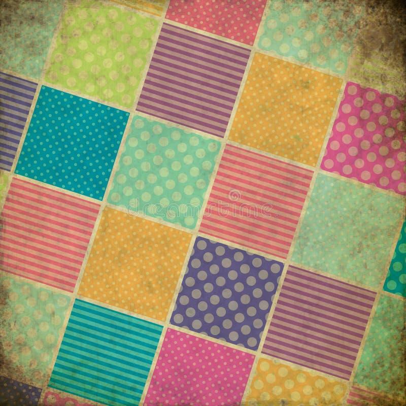 Fond de grunge de patchwork illustration libre de droits
