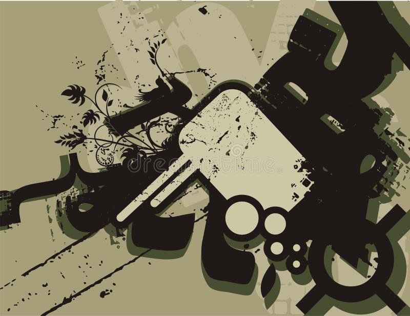 Fond de grunge de typographie illustration libre de droits