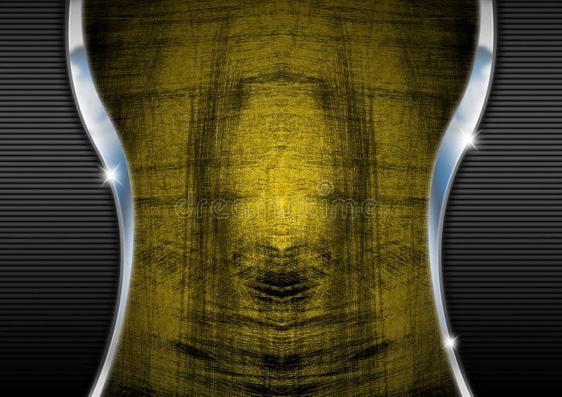 Fond de grunge et de chrome illustration de vecteur
