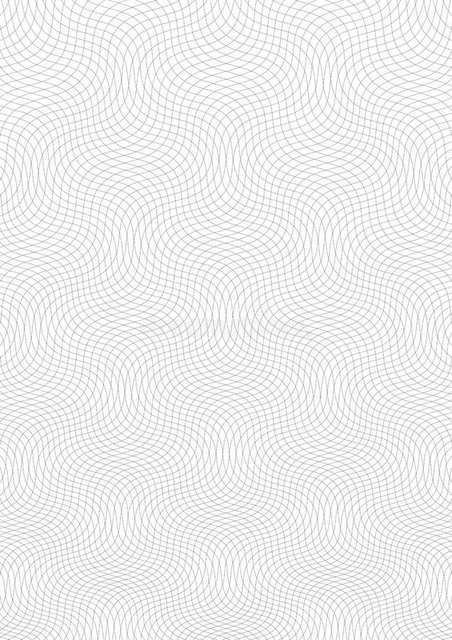 Fond de guilloche Un modèle simple avec les lignes onduleuses Ornement de moirage, texture de guilloche avec des vagues Conceptio illustration libre de droits