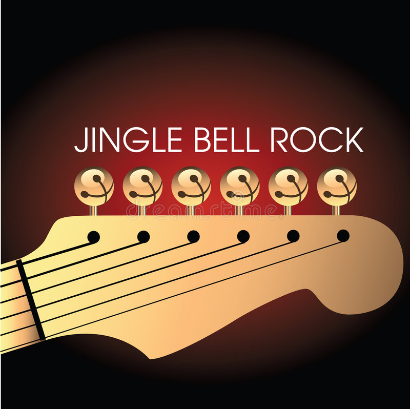 Fond de guitare de Noël illustration libre de droits