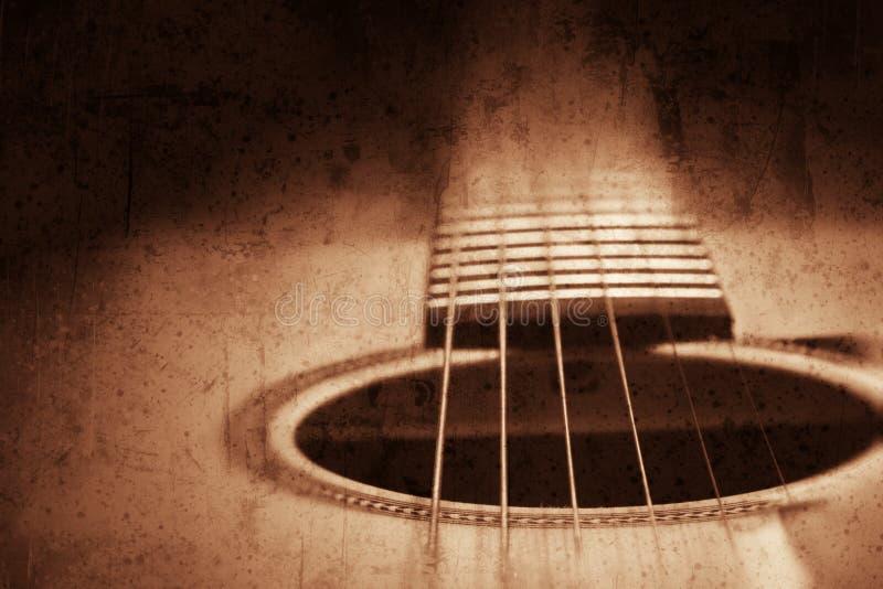 Fond de guitare, image texturisée grunge photo libre de droits