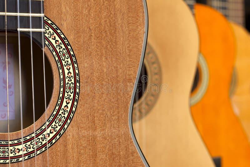 Fond de guitares photographie stock libre de droits