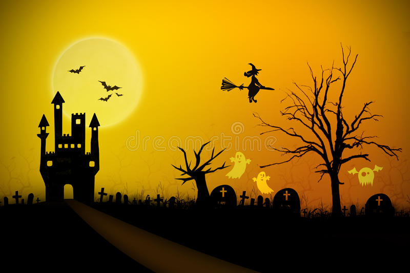 Fond de Halloween illustration libre de droits