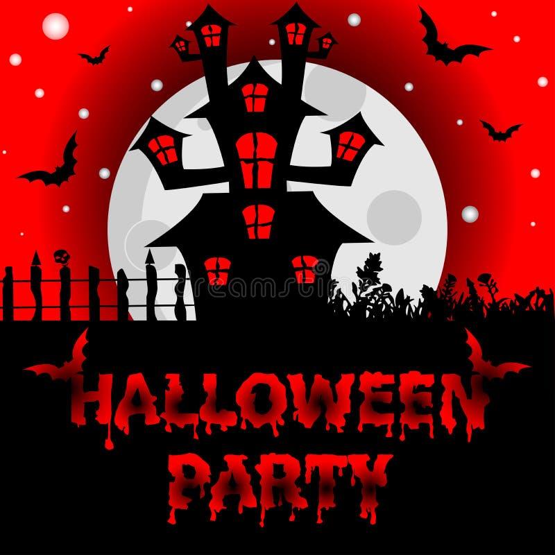 Fond de Halloween avec les battes rampantes de Chambre et de nuit, EL de conception illustration de vecteur
