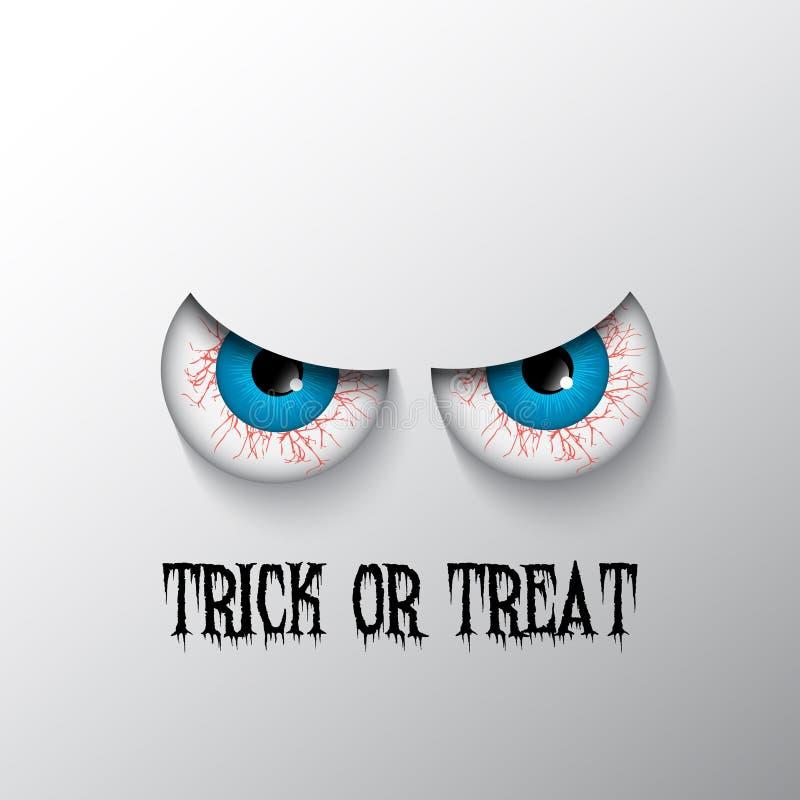 Fond de Halloween avec les yeux mauvais illustration libre de droits