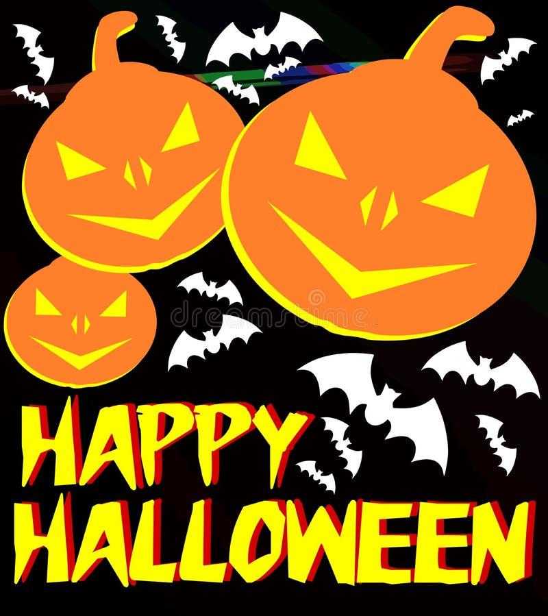 Fond de Halloween dans le noir avec des potirons illustration de vecteur