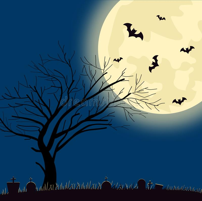 Fond de Halloween Silhoutte illustration stock