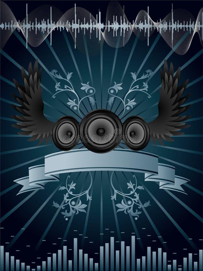 Fond de haut-parleur illustration de vecteur