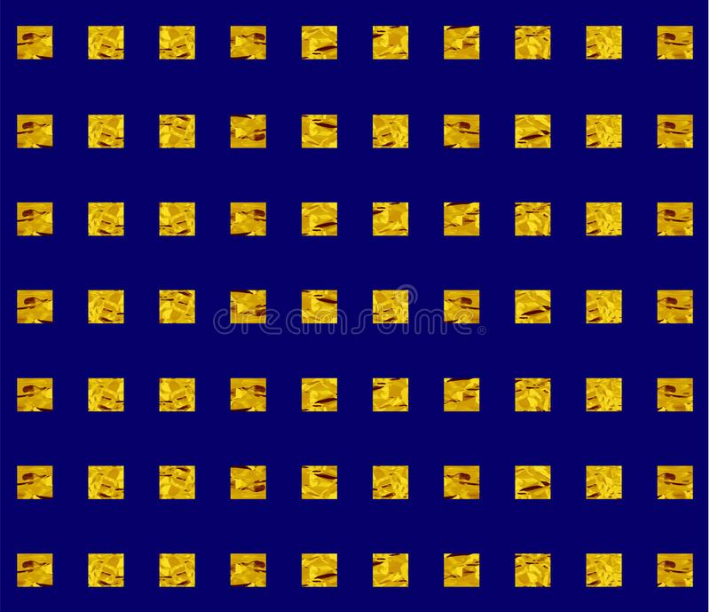 Fond de Heckered Vecteur D'or et bleu illustration libre de droits