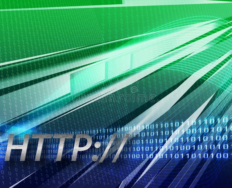Fond de HTTP de l'information d'Internet illustration libre de droits