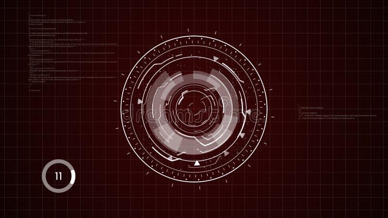 Fond de HUD Circular Element image libre de droits
