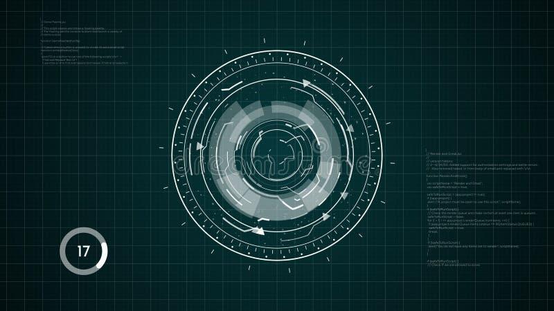 Fond de HUD Circular Element images stock