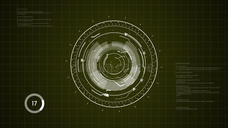 Fond de HUD Circular Element image stock
