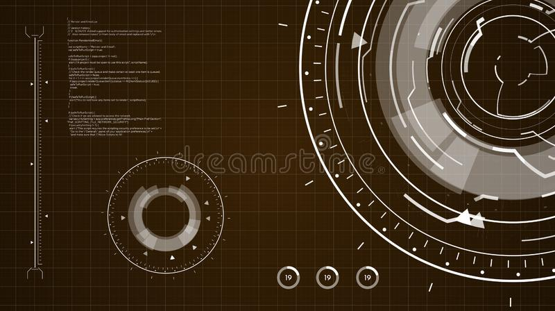 Fond de HUD Circular Element images libres de droits