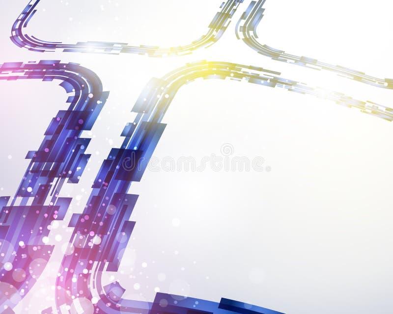 Fond de intersection abstrait de technologie illustration stock