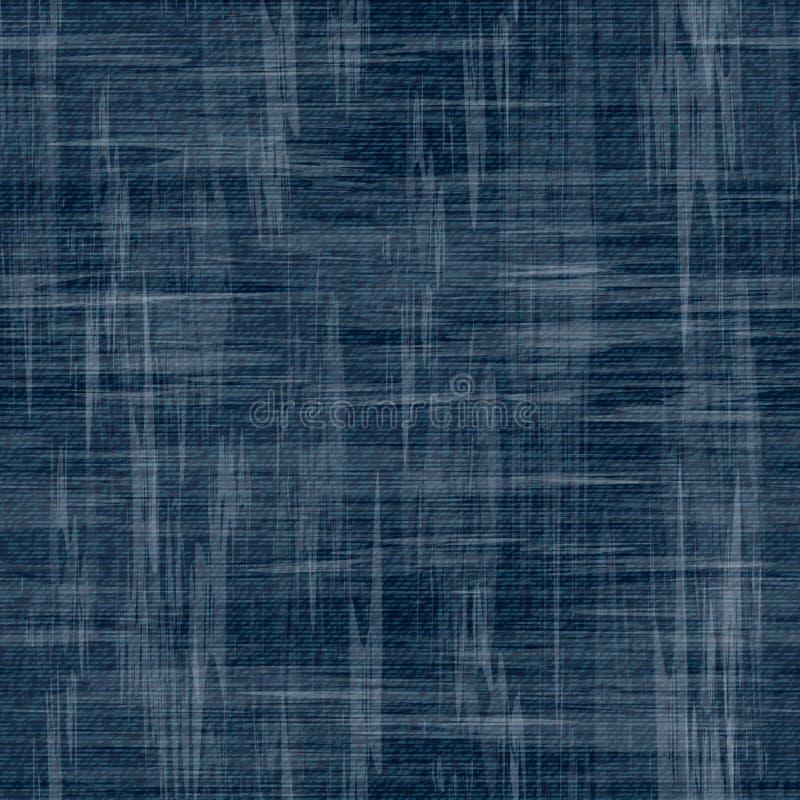 Fond de jeans de vecteur avec des fleurs Modèle sans couture de denim Tissu de jeans Fond grunge floral illustration de vecteur