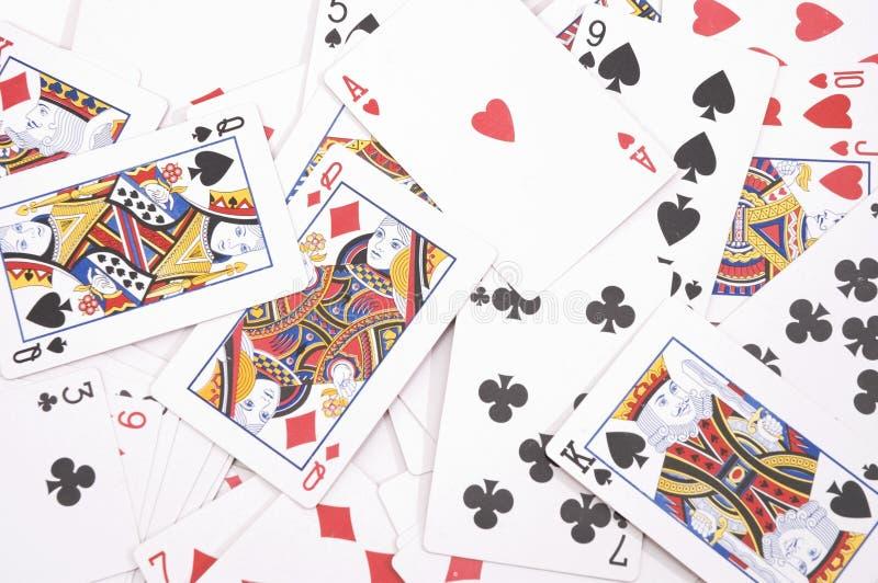 Fond de jeu de cartes images libres de droits