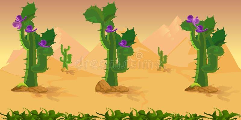 Fond de jeu de désert illustration de vecteur