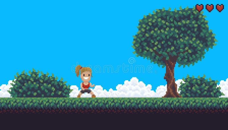 Fond de jeu de pixel illustration de vecteur
