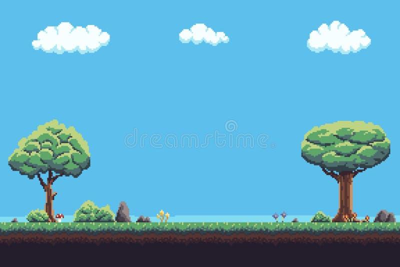 Fond de jeu de pixel illustration libre de droits