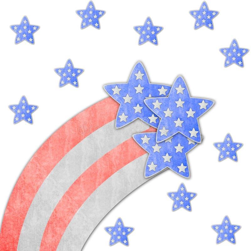 Fond de Jour de la Déclaration d'Indépendance du 4 juillet illustration de vecteur