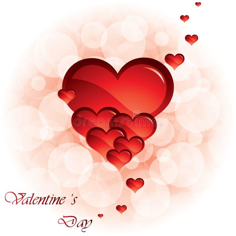 Fond de jour de Valentines illustration de vecteur