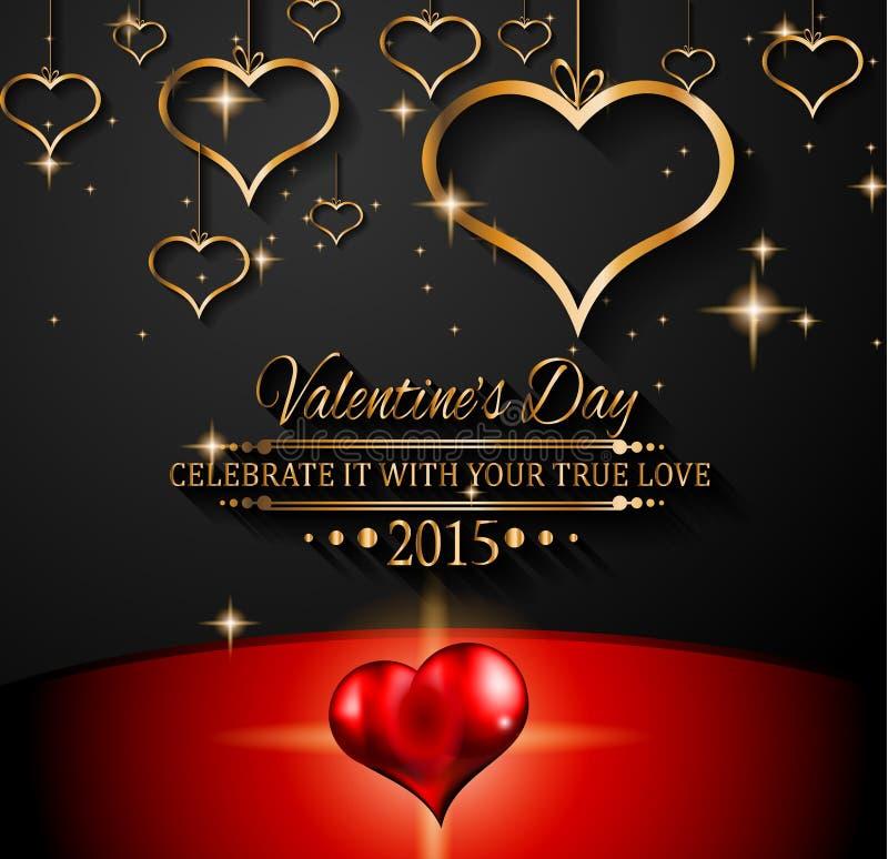 Fond de jour de valentines de San pour des invitations de dîner illustration stock