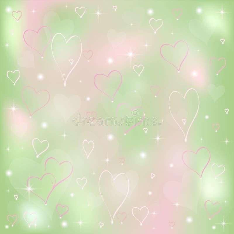 Fond de jour du `s de Valentine avec des coeurs illustration de vecteur