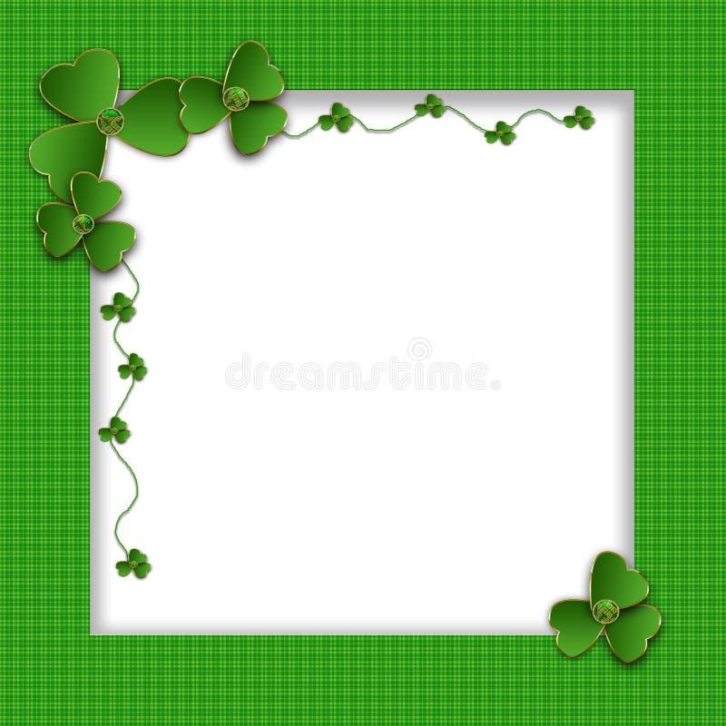 Fond de jour du ` s de St Patrick avec des oxalidex petite oseille illustration de vecteur